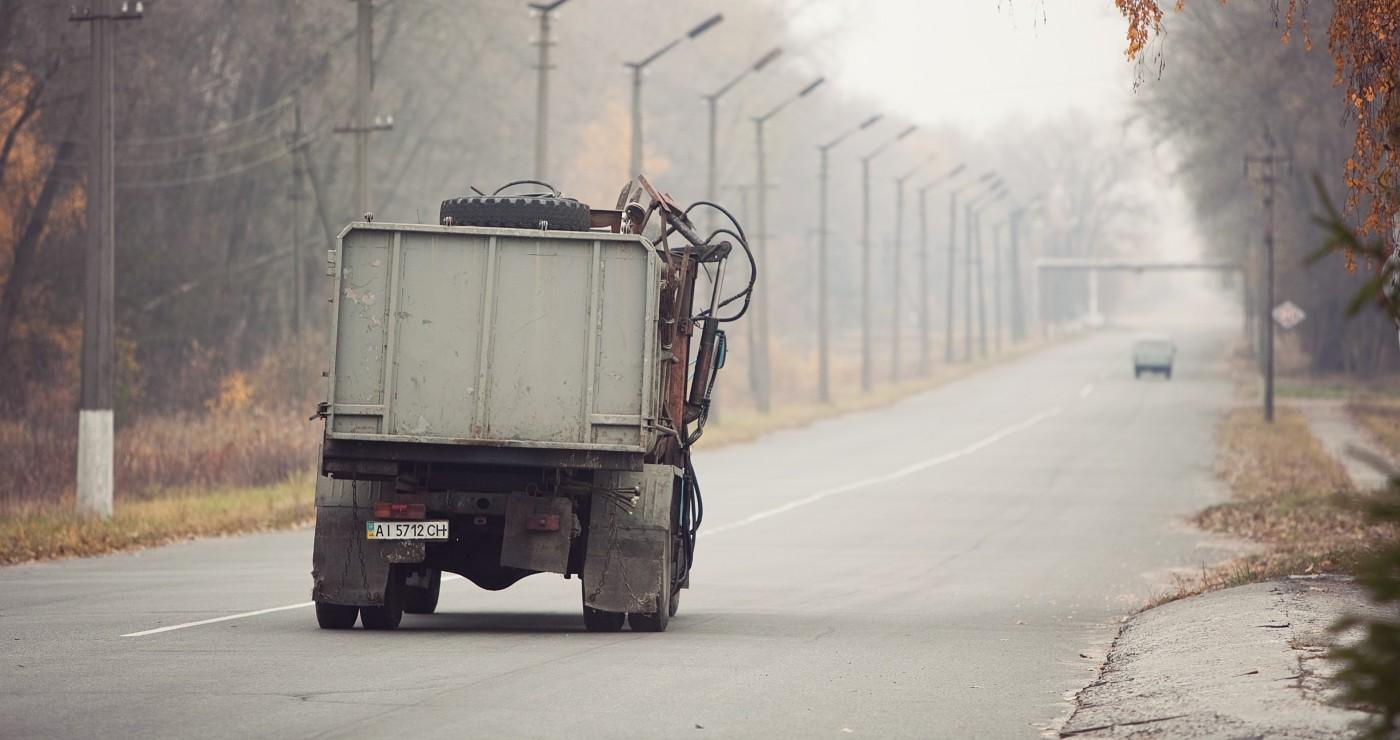 Pripyat Chernobyl Ukraine exclusion zone truck