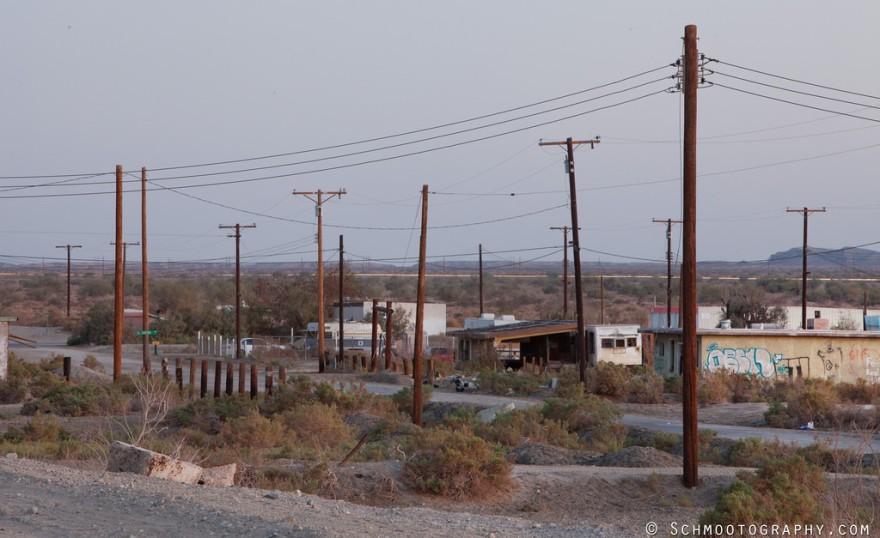 Salton Sea Beach, silent under the dying breath of evening light.