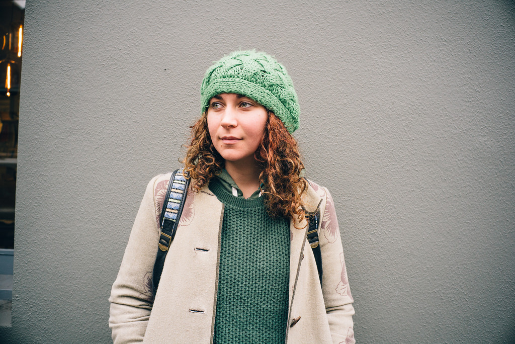 A girl I photographed on the streets of Portland, OR.